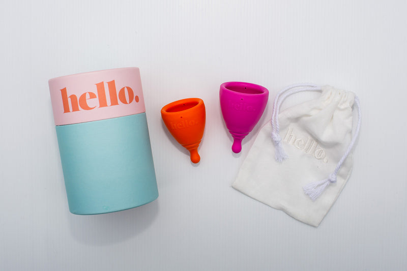 The Hello Cup Fit Both Sizes Orange & Fushia