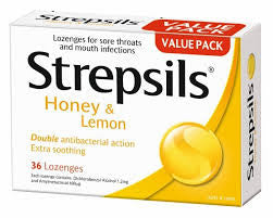 STREPSILS Honey & Lemon 16loz