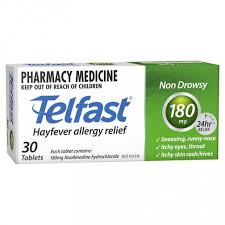 TELFAST Tablets 180mg 30s