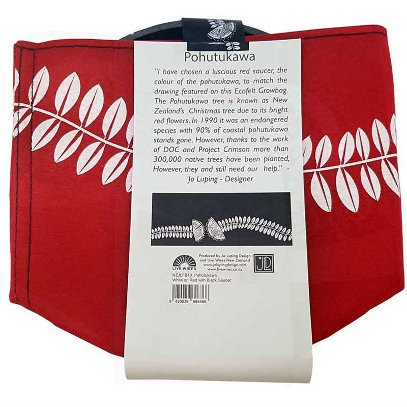 Live Wire Pohutukawa Red 7 Gallon Felt Bag