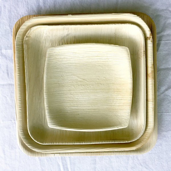 square lunch plates  /  8 inch