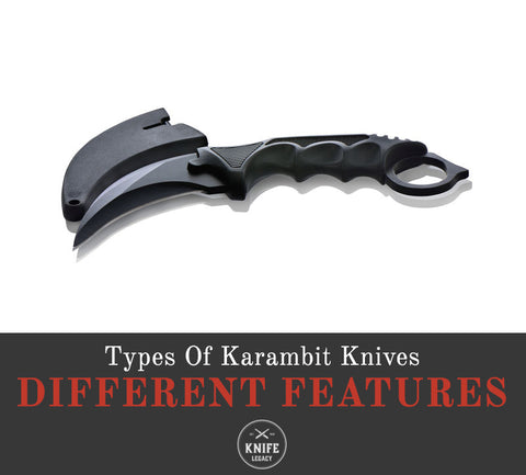 Different features of a karambit knife