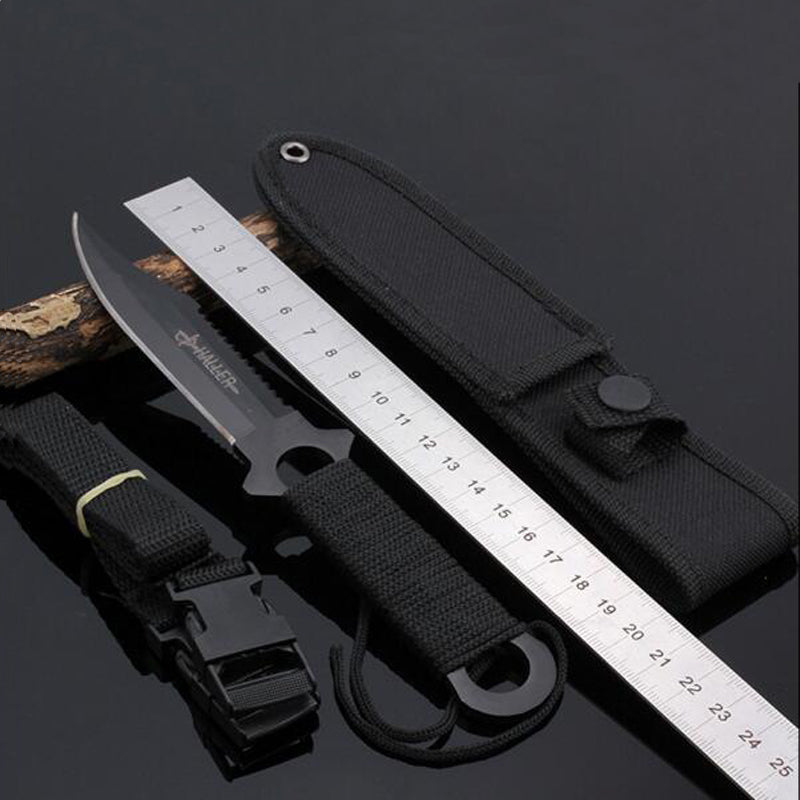 Stainless Steel Diving Straight Knife