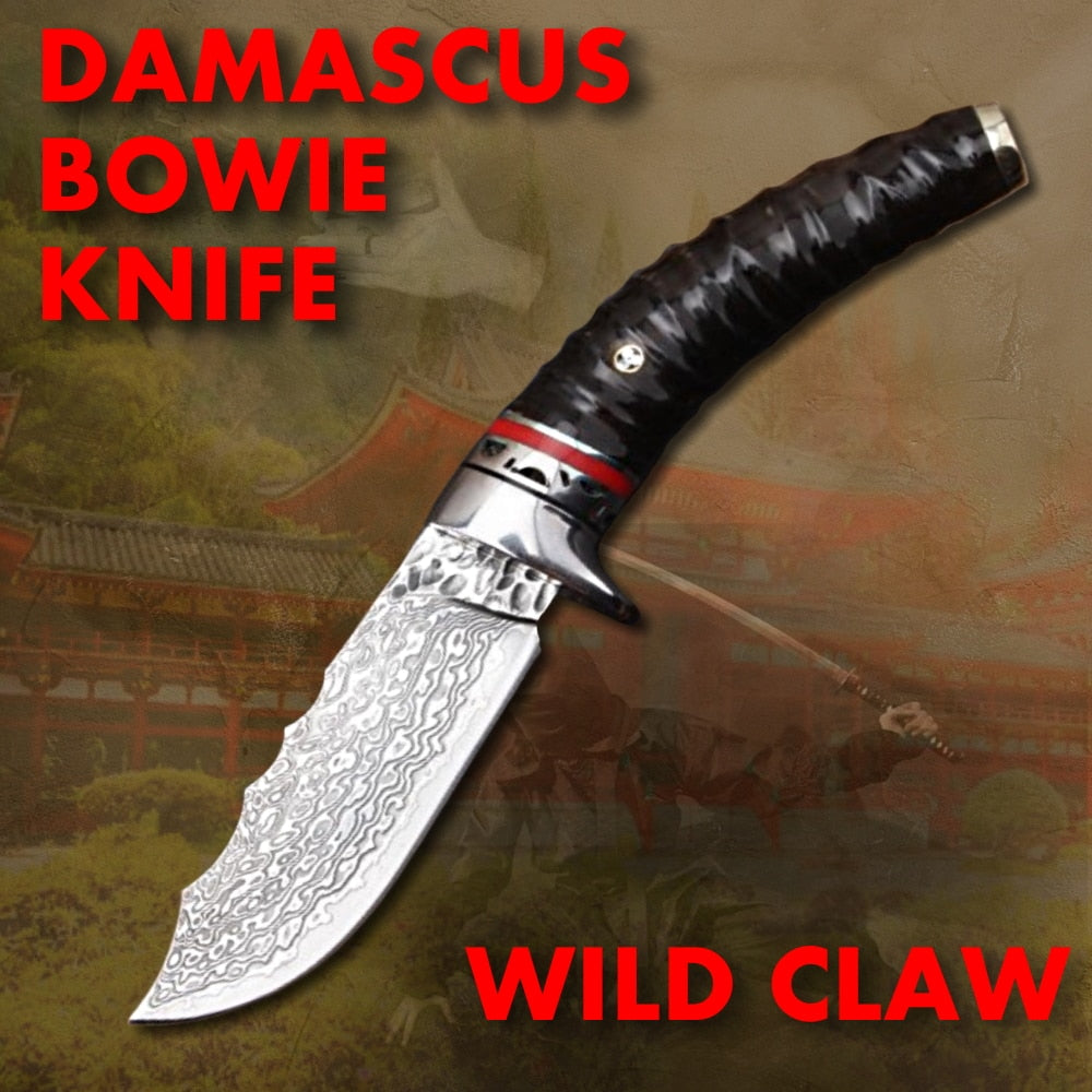 Damascus Steel Bowie Knife