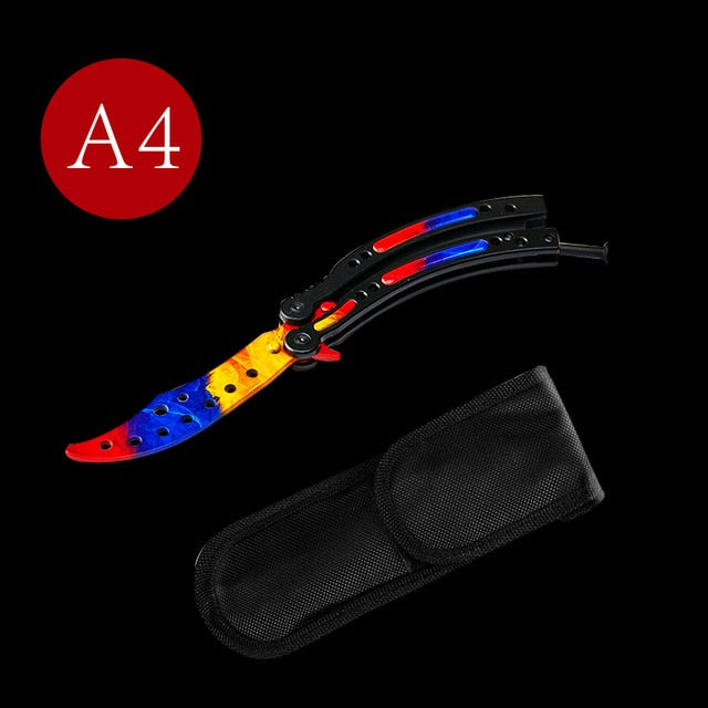 Colorful Practice Butterfly Knife