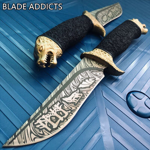 Wolf Head Bowie Knife