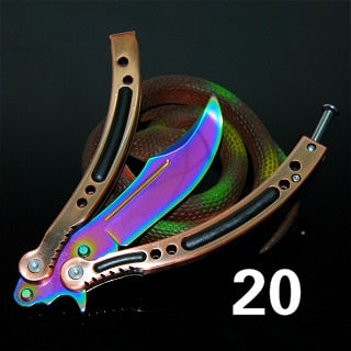 Colorful Butterfly Knife