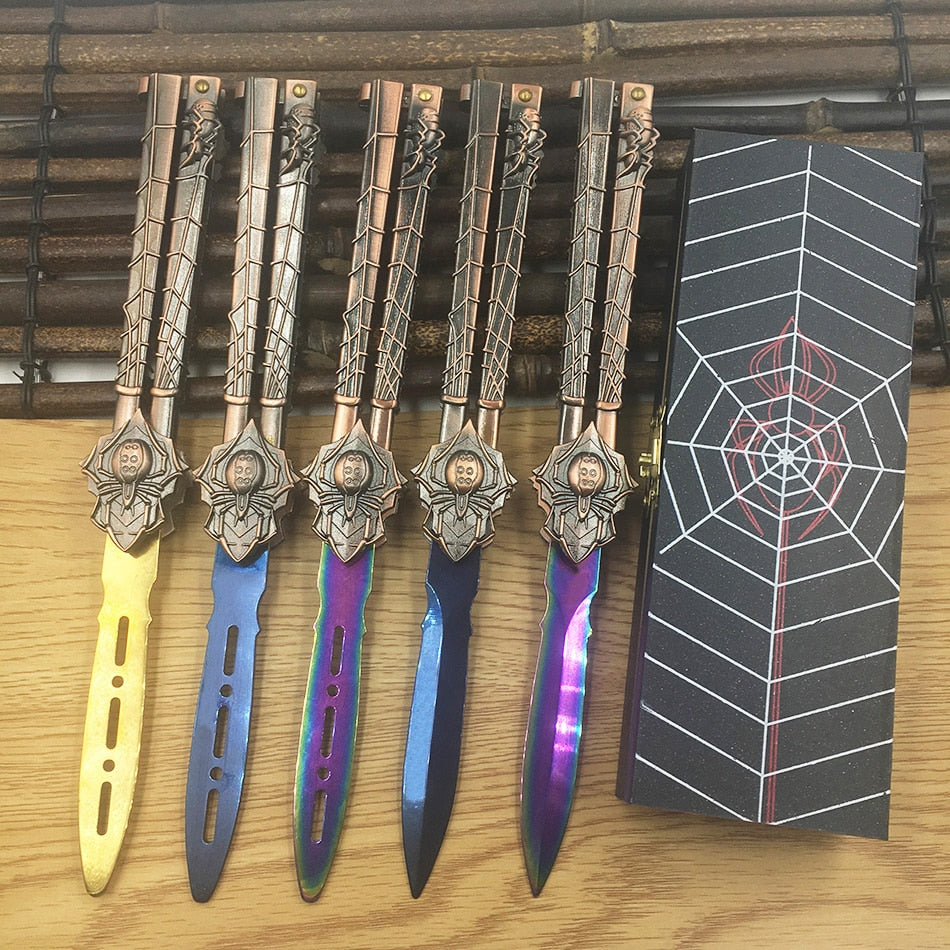 Spider Practice Butterfly Knife