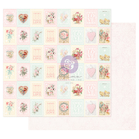 PR-996659 Magic Love Collection 12x12 Sheet - Love Stamps