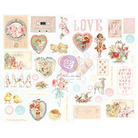PR-996727 Magic Love Collection Chipboard Stickers