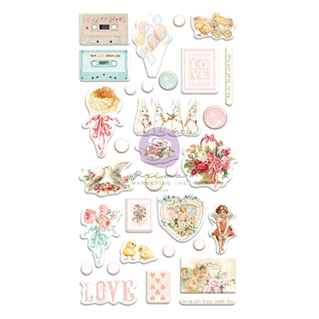 PR-996802 Magic Love Collection Puffy Stickers