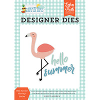 EP-SUM209040 Hello Summer Flamingo Die Set