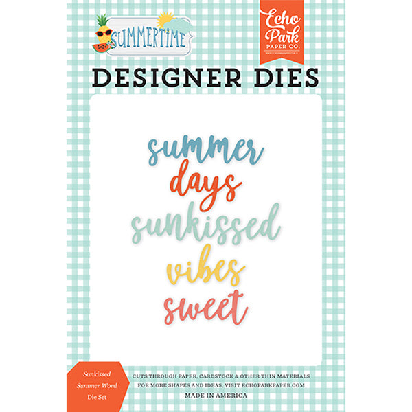 EP-SUM209043 Sunkissed Summer Word Die Set