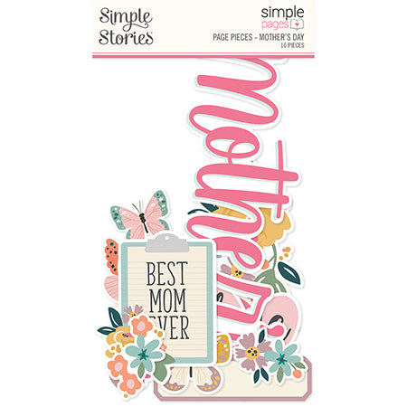 SS-15918 Simple Pages Page Pieces - Mother's Day