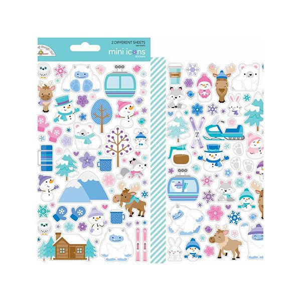 【セール品】DB-6472 winter wonderland mini icons sticker