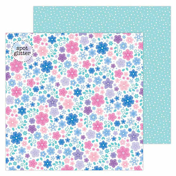DB-6512 snowflowers double-sided cardstock