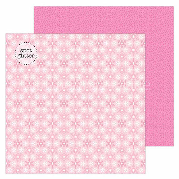 DB-6513 winter wonderland double-sided cardstock