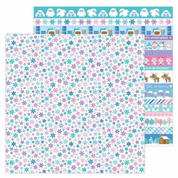 DB-6519 snow wonder double-sided cardstock