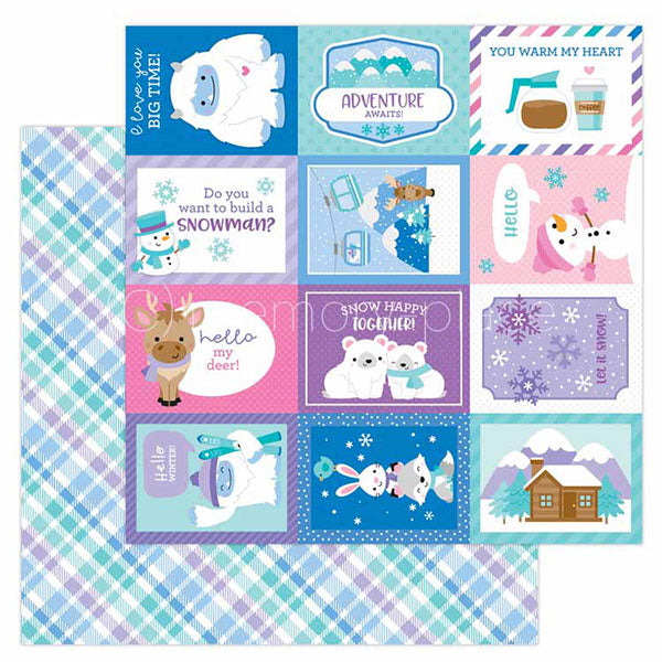 DB-6521 cozy cardigan double-sided cardstock