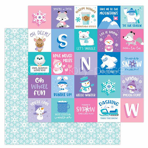 【セール品】DB-6522 snow much fun double-sided cardstock