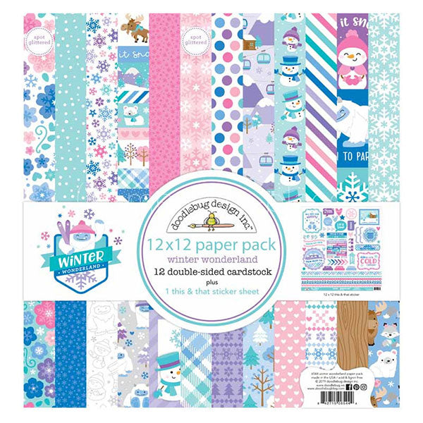 DB-6544 winter wonderland 12x12 paper pack