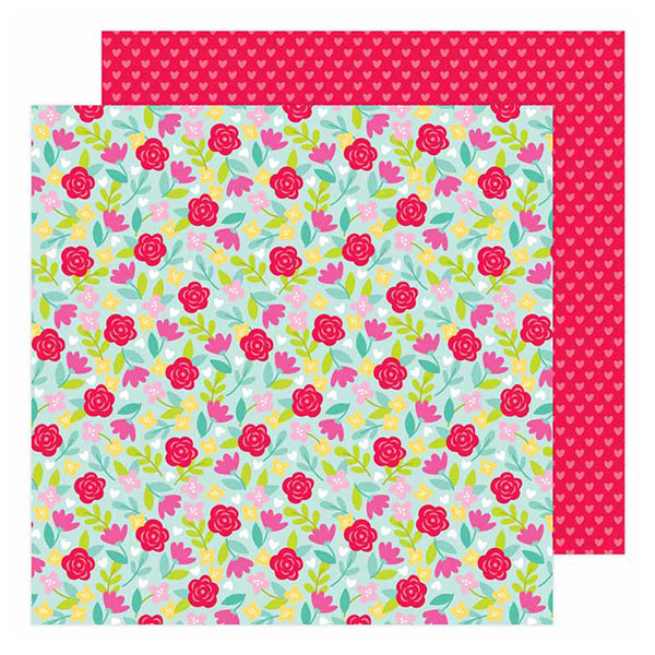 DB-6589 rose garden double-sided cardstock