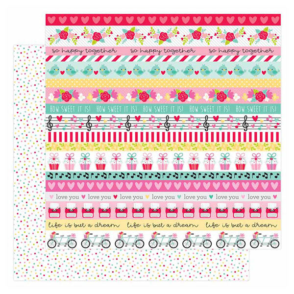DB-6590 sweet sprinkles double-sided cardstock