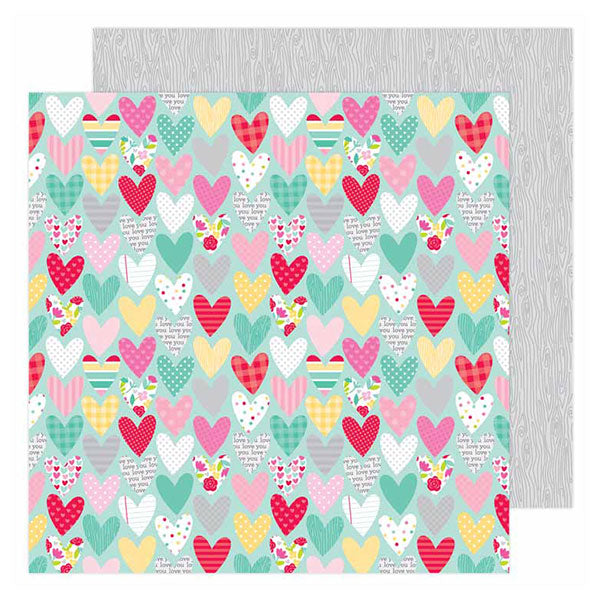 DB-6593 sweet hearts double-sided cardstock