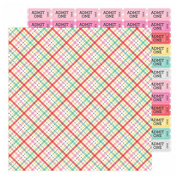 DB-6594 forever plaid double-sided cardstock