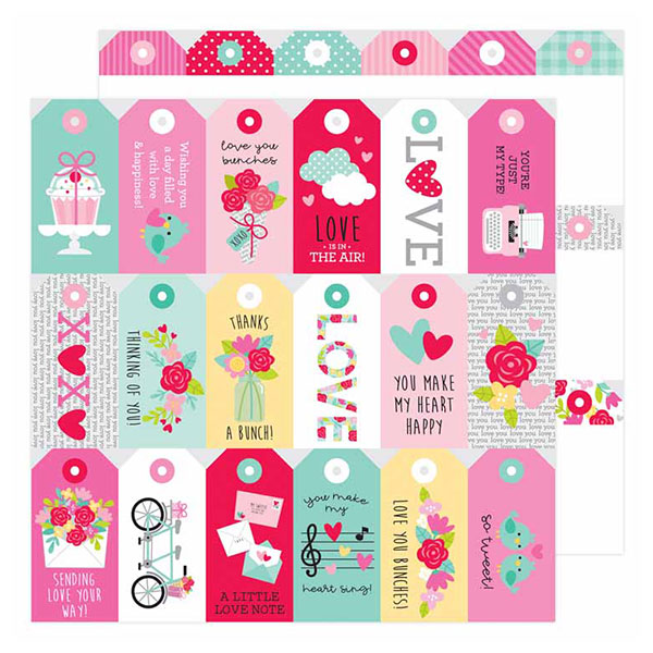 DB-6595 kissing tag double-sided cardstock