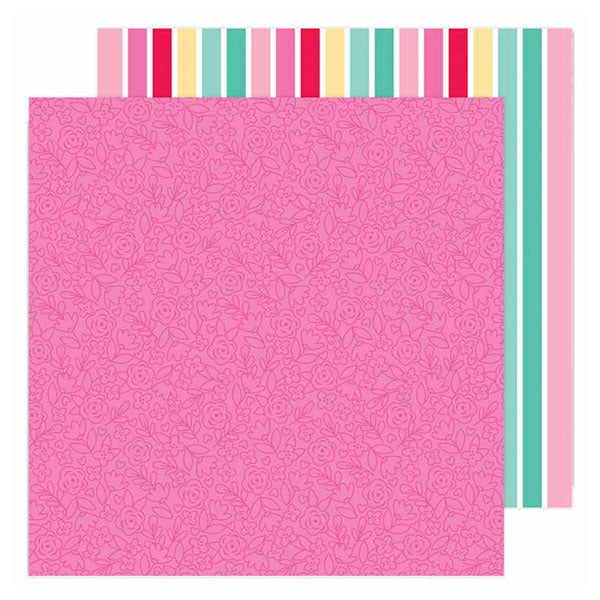 DB-6597 lovers lane double-sided cardstock