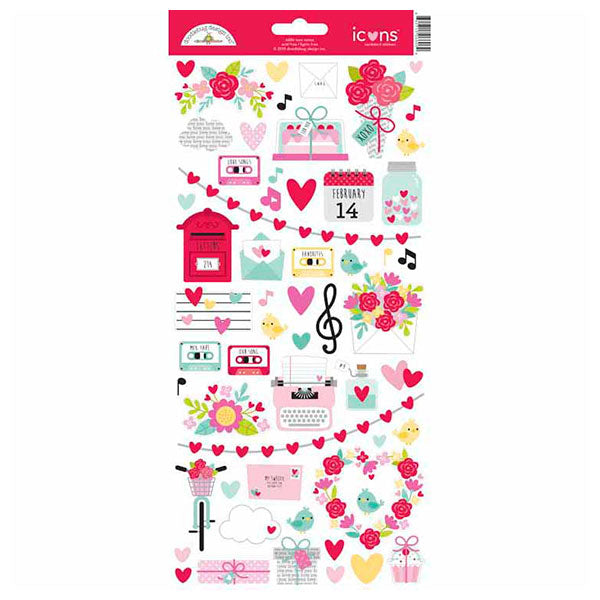 DB-6606 love notes icons sticker