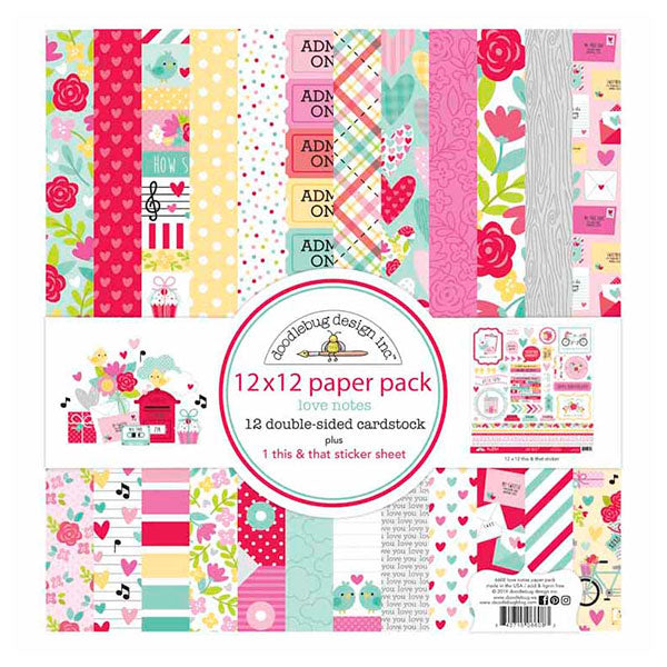 DB-6608 love notes 12x12 paper pack