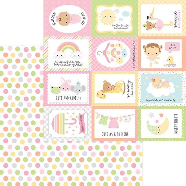 DB-6818 cute as a button double-sided cardstock