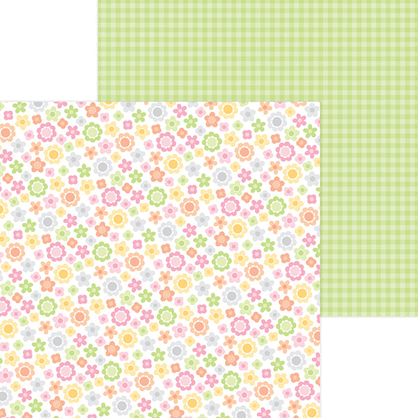 DB-6820 baby blooms double-sided cardstock