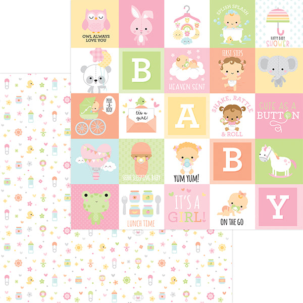 DB-6821 binkies & bottles double-sided cardstock