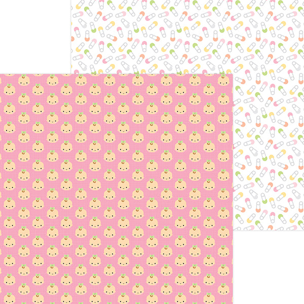 DB-6827 baby girl double-sided cardstock