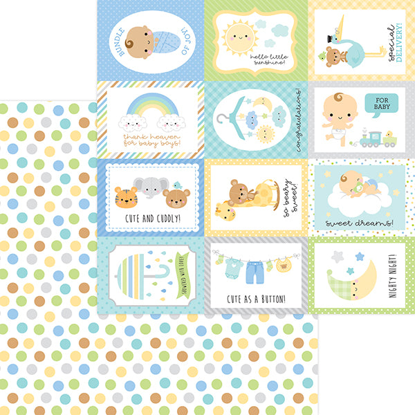 DB-6830 play time double-sided cardstock