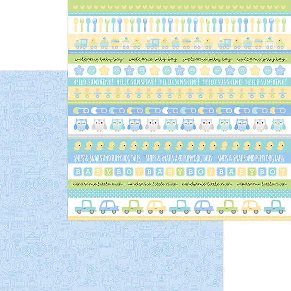 DB-6831 it's a boy! double-sided cardstock