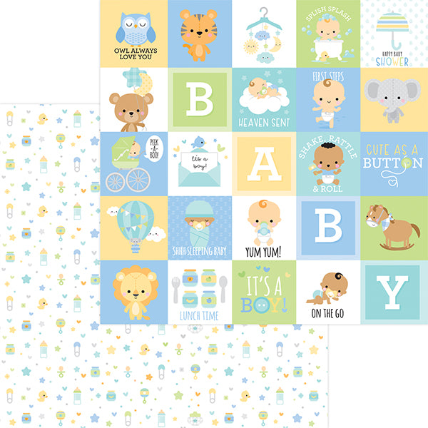 DB-6833 little one double-sided cardstock