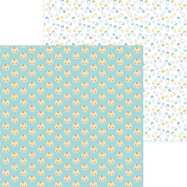 DB-6839 baby boy double-sided cardstock