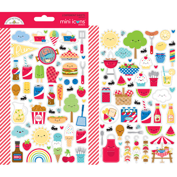 DB-6887 bar-b-cute mini icons sticker