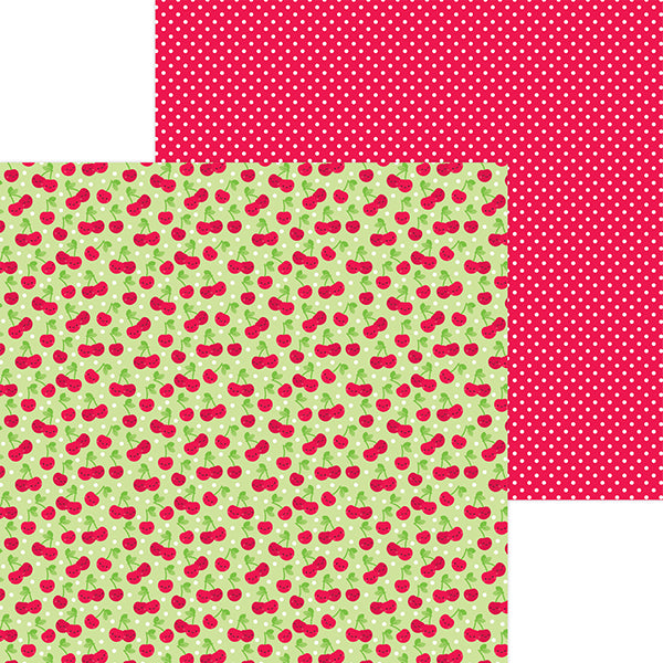 DB-6904 cherry sweet double-sided cardstock