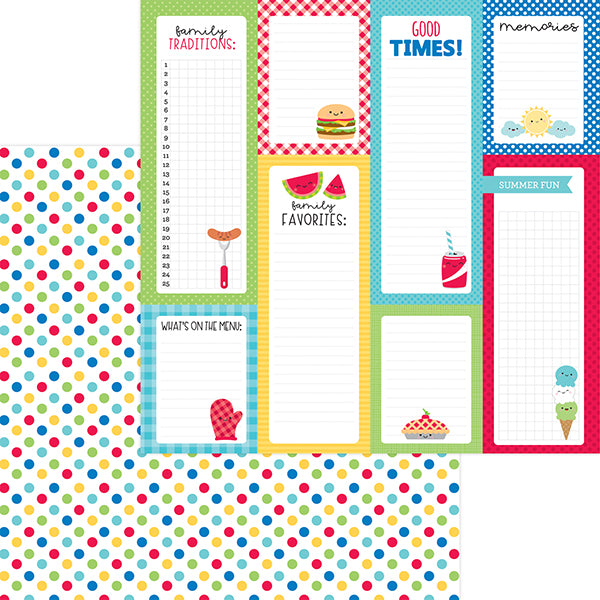 DB-6905 picnic spot double-sided cardstock