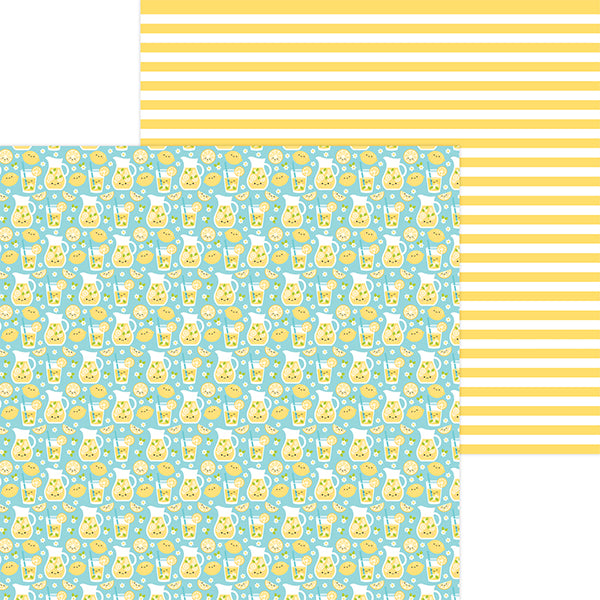 DB-6906 fresh lemonade double-sided cardstock