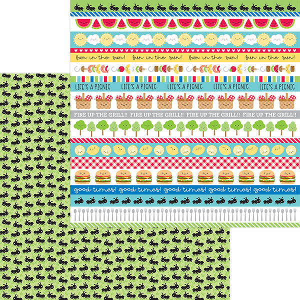 DB-6910 picnic parade double-sided cardstock