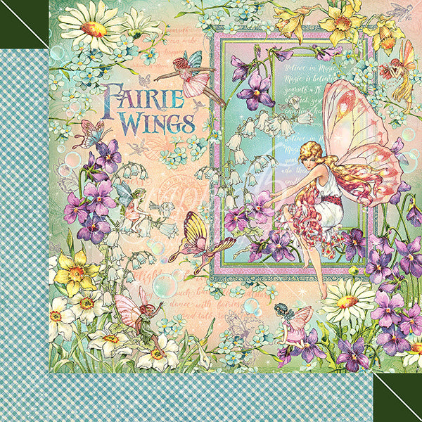 GR-4502074 Fairie Wings 12x12 Paper