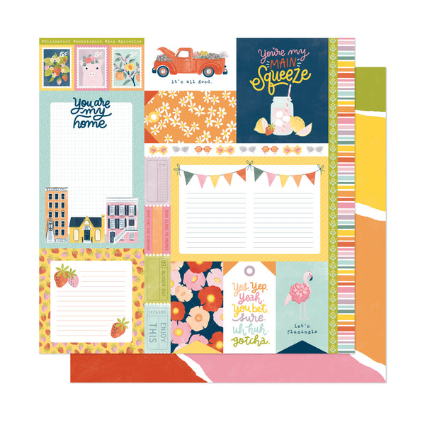 Patterned Paper - AC - DL - It's All Good - 12 x 12 - Main Squeeze 348181