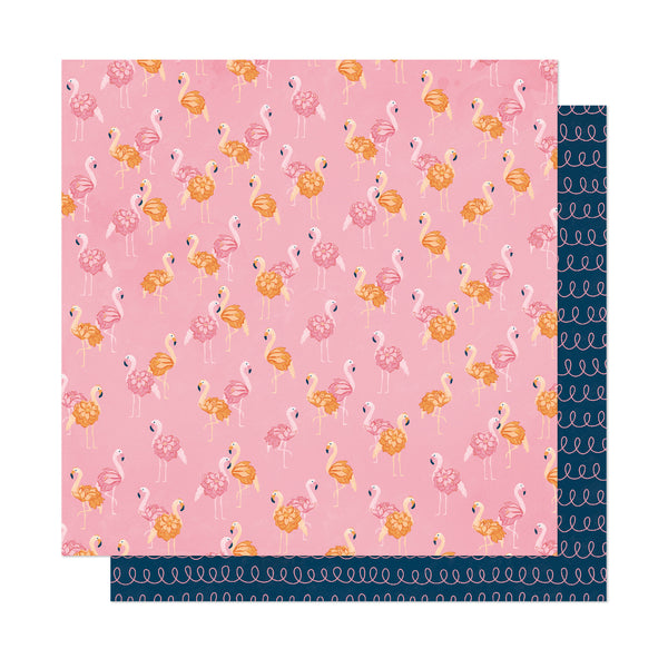 Patterned Paper - AC - DL - It's All Good - 12 x 12 - Let's Flamingle 348201