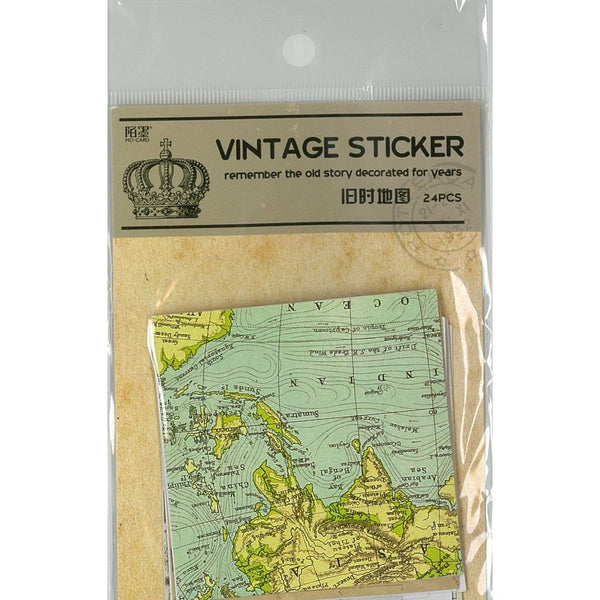 VINTAGE STICKER Map